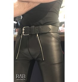 RoB Leather belt 5 cm with double buckle