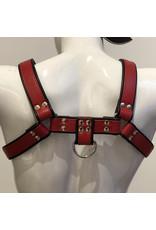 RoB H-front harnas rood met zwarte bies