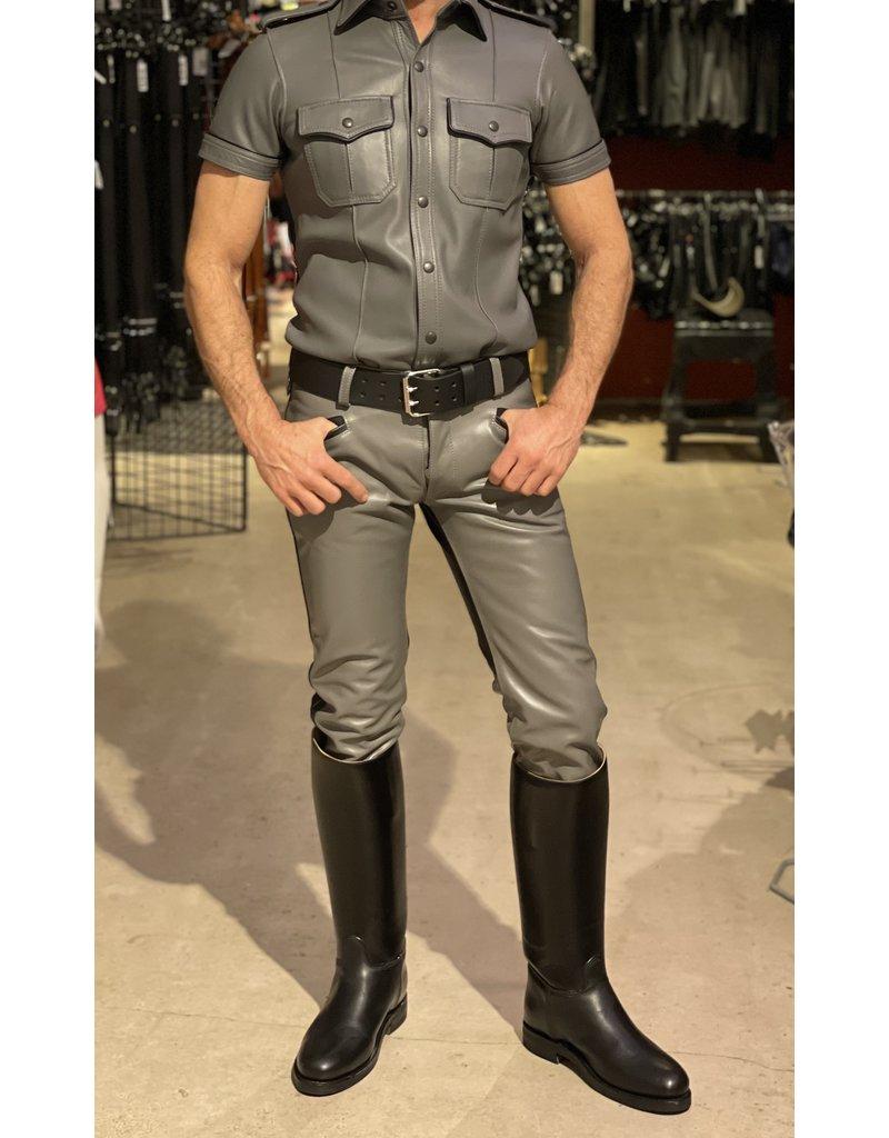 RoB Leather Option Jeansleder Grau