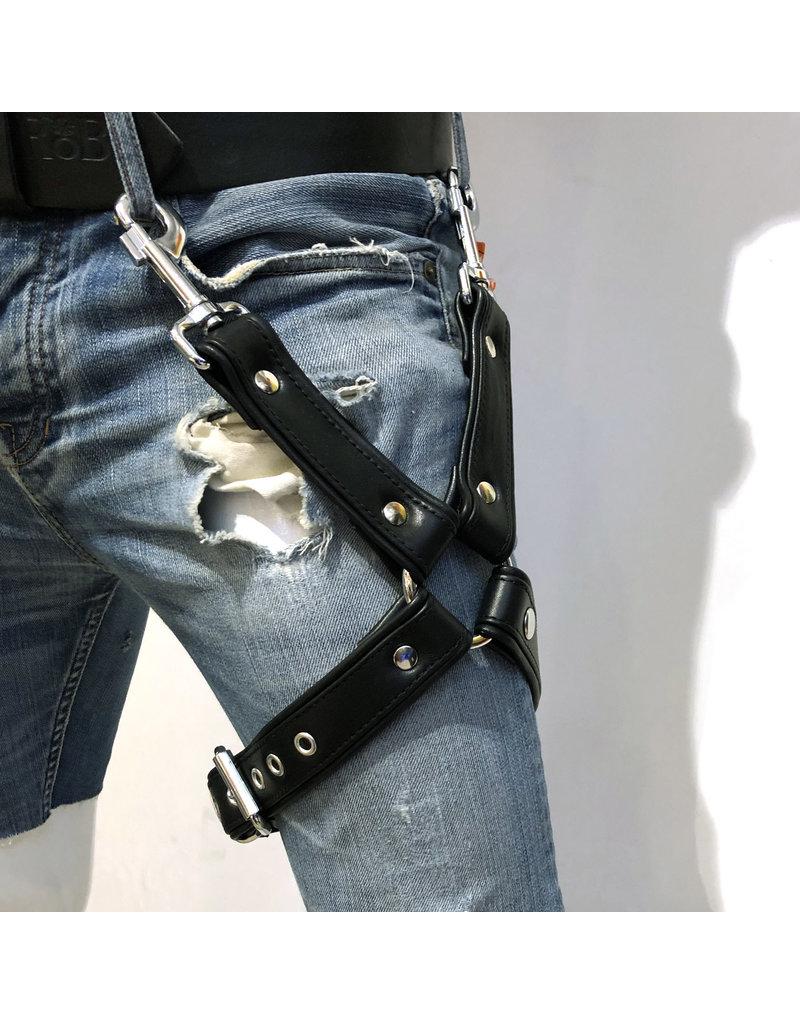RoB Bein Harness schwarz auf schwarz