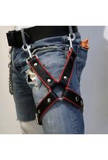 RoB Bein Harness schwarz auf rot