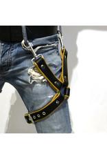 RoB Thigh harness black on yellow