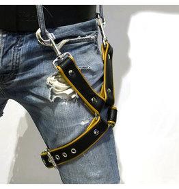RoB Bein Harness schwarz auf gelb