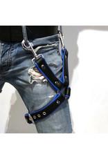 RoB Bein Harness schwarz auf blau