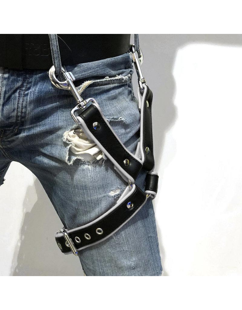 RoB Bein Harness schwarz auf weiss
