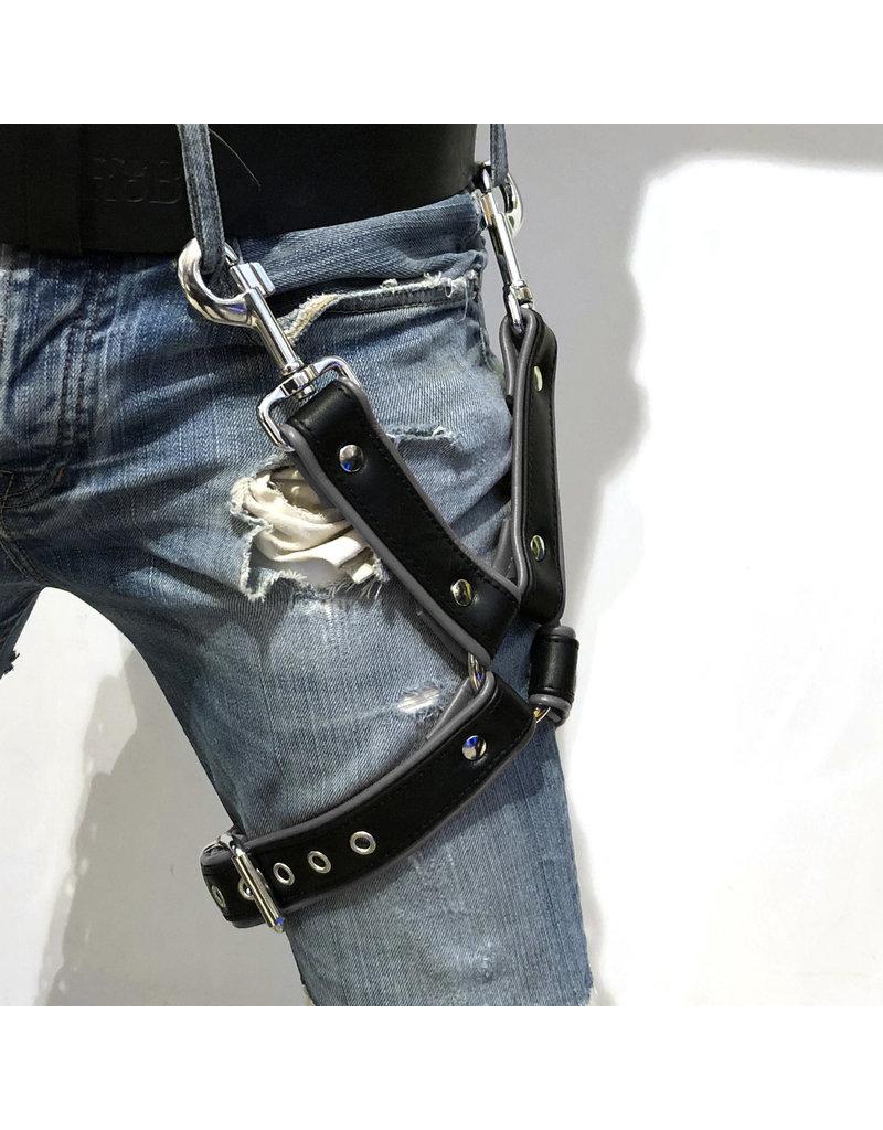 RoB Thigh harness black on grey