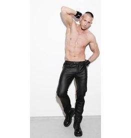 Full zip, slim fit jeans met blind pockets & blauwe streep