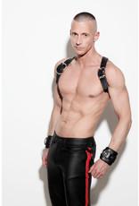 Full zip, slim fit jeans met blind pockets & rode streep