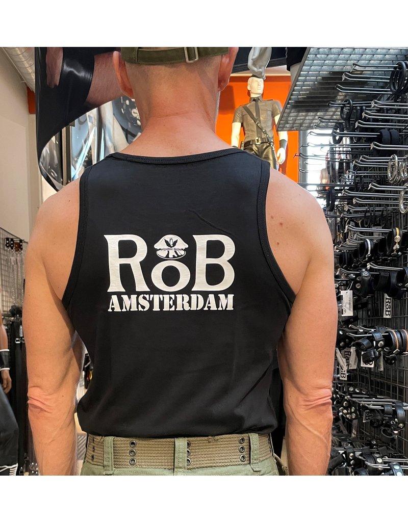 RoB Singlet zwart met wit logo