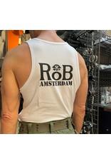 RoB Singlet weiss mit schwarzem logo