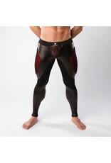 Maskulo Armored, color-under, fetish leggings, back zip, black/red