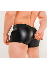 Maskulo Armored Next trunks with backzip black/red