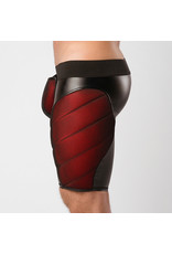 Maskulo Armored, color-under, cycling shorts, back zip, black/red