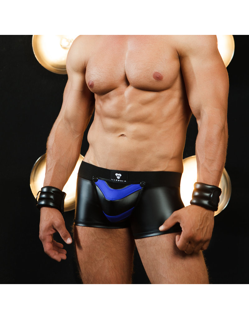 Maskulo Armored Next trunks with backzip black/blue