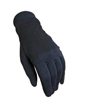 Trekmates zijden handschoenen, zwart