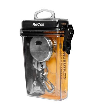 True Utility True Utility Recoil, uittrekbare sleutelring met riemclip