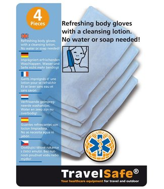 Travelsafe Travelsafe Body Gloves, 4 stuks