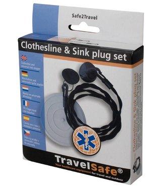 Travelsafe Travelsafe waslijn en universele afvoerstop
