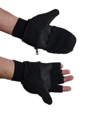 Fuse handschoenen met flap, zwart