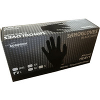 Sanogloves milking gloves 6 mil - black