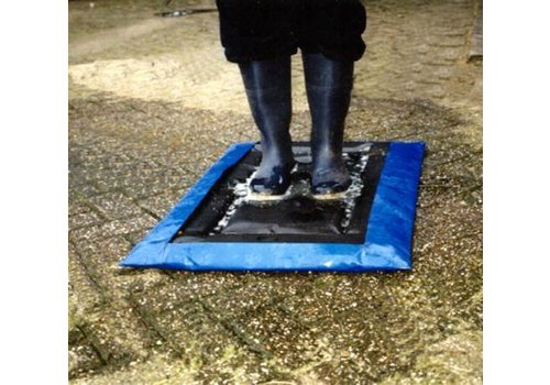 Disinfection mat with collection cover