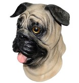 latex hondenmasker 'mopshond'
