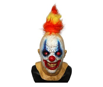 Horror clown mask 'Fire Devil'