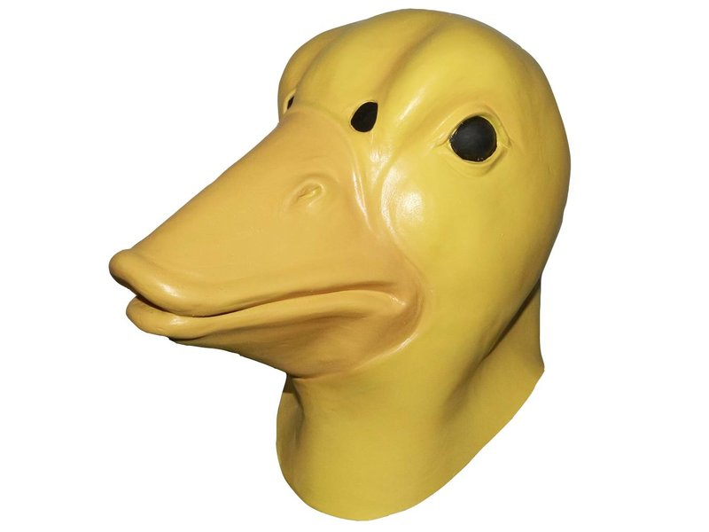 Latex duck mask - yellow