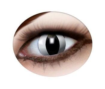 Cat eye lenses white
