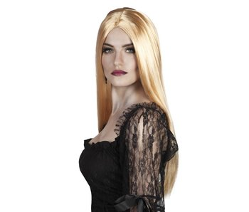 Blonde pruik