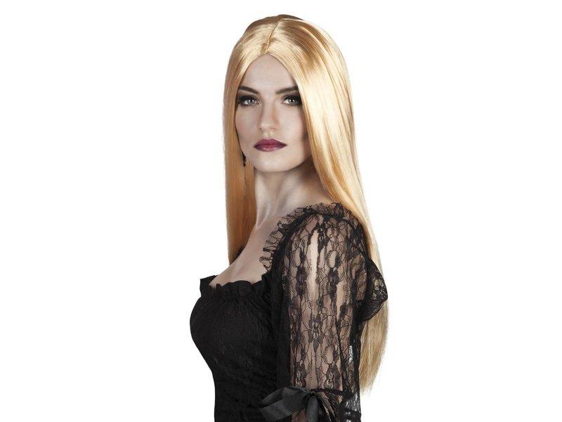 Gekleurde pruik - blond
