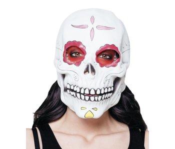 Latex hoofdmasker Señora Calavera