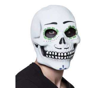 Latex head mask Señor Calavera