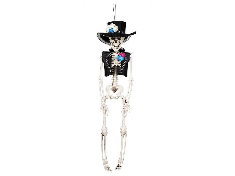 Dia de los Muertos skeletje 'El Flaco' (40 cm) Dag van de doden decoratie