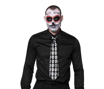 Tie with skulls