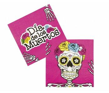 12 Dia de los Muertos napkins