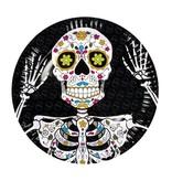 6 Dia de los Muertos bordjes (23 cm) / Day of the dead