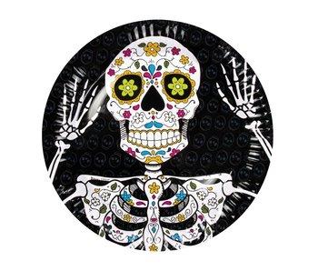 6 Dia de los Muertos plates (23 cm)