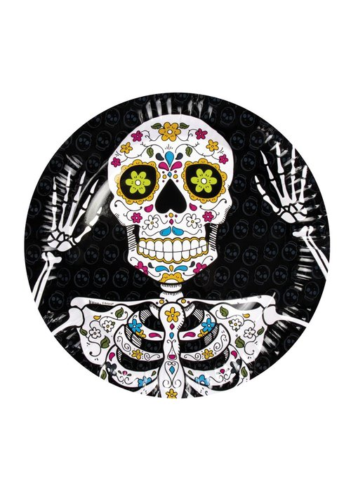 6 Dia de los Muertos bordjes (23 cm)