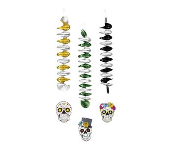 3 Decoration spirals (Day of the dead)
