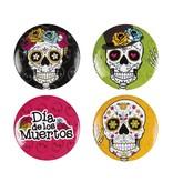 Set 4 Buttons (3 cm) Day of the dead / Dia de los Muertos accessoires