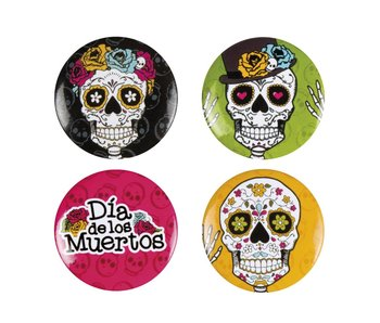 4 Buttons Day of the dead