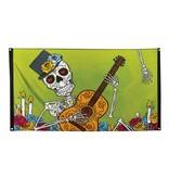 Decoratie vlag Day of the dead (90 x 150 cm) – Dia de los Muertos versiering