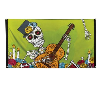 Polyester vlag Day of the dead (90 x 150 cm)