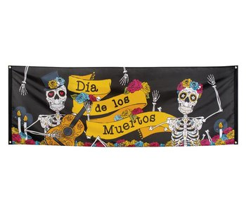 Polyester banner Day of the dead (74 x 220 cm)