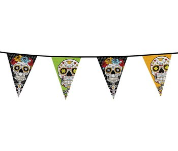 Day of the dead Garland/banner (10m, 20 flags)