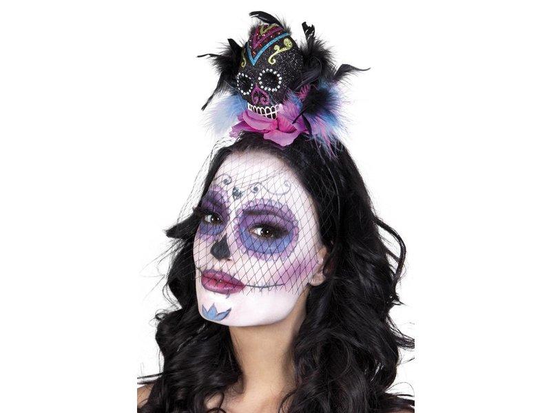 Tiara kroon 'Calavera Deluxe' (Dia de los Muertos / Day of the Dead)