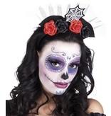 Tiara kroon 'Catrina' (Dia de los Muertos / Day of the dead)