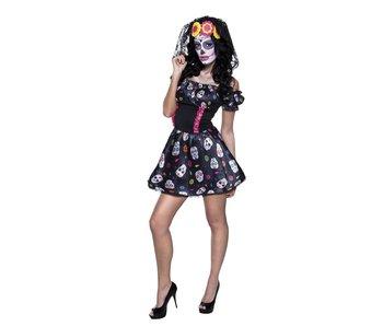 Dia de los Muertos jurk 'Skully'