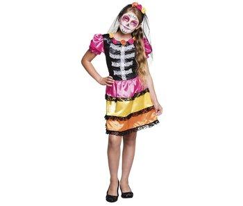 Dia de los Muertos costume Niña Calavera (Age 4-6)